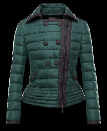 Moncler Women Jacket BIBER Jacket Double Jacket Green Parka