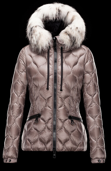 Moncler Women's Jacket GRESFUR Fur Hooded Jacket Brown