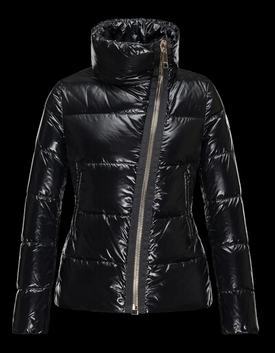 Moncler Womens ILAY Col Zip Winter Coat Black
