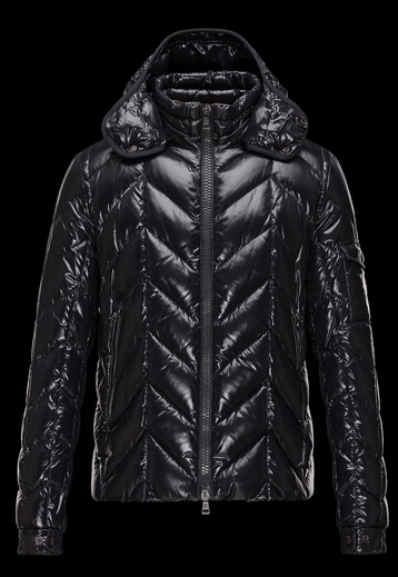 Moncler Men Jacket BERRIAT Quilted Hood Black