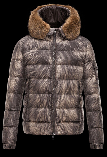 Moncler Men's Down Jacket Byron Fur Hoodie Khaki Price