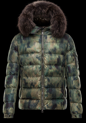 Moncler Men Down Jacket Byron Fur Hood Green Price