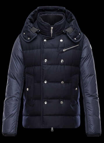 Moncler LUCIEN Winter Jacket Men Hooded Blue