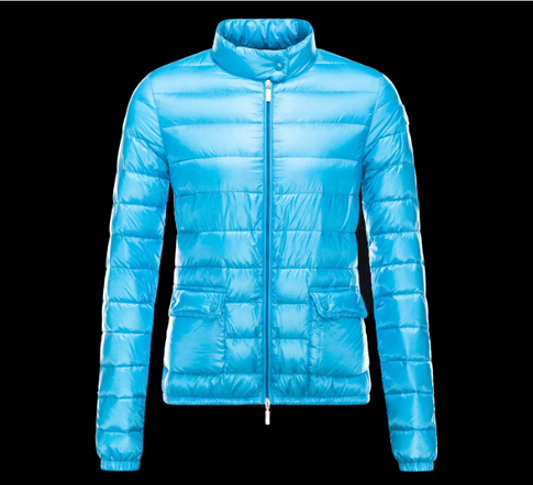 Moncler Lans Coat Women Winter Blue Parka