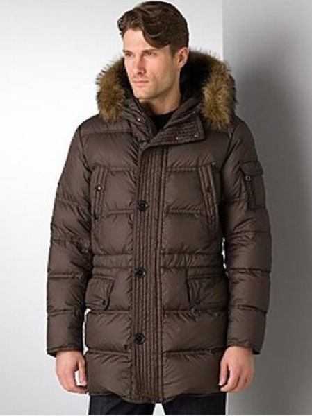Moncler Long Down Jackets Men's Affton Coffee Jackets