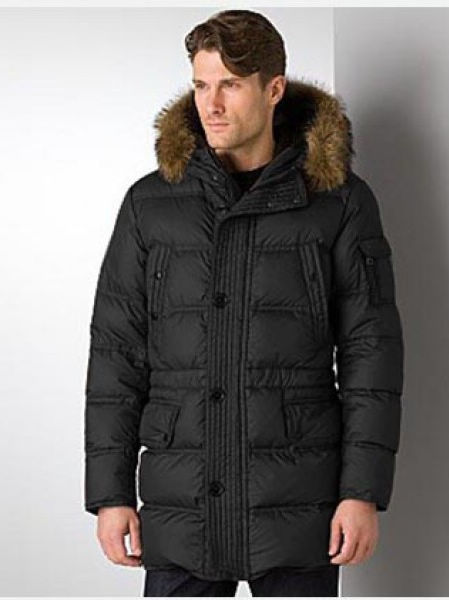 Moncler Long Down Jackets Men's Affton Black Jackets
