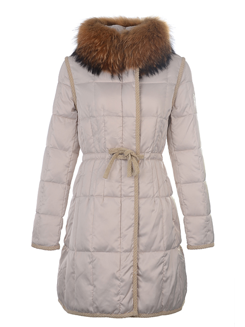 Moncler Down Coat Women's Winter Coat Fur Collar