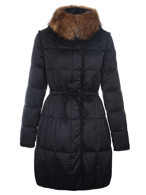 Moncler Down Coat Women Winter Coat Fur Collar Black