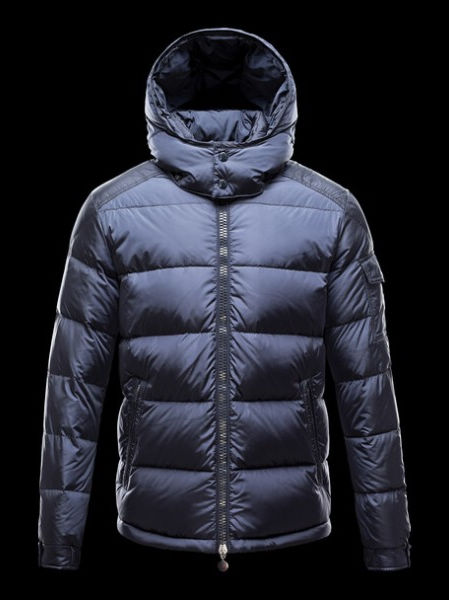 Moncler Maya Jacket Men Hooded Jacket Blue