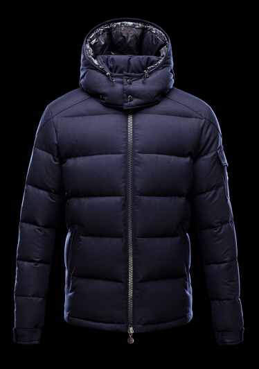 Moncler Montgenevre Men Short Jacket Hooded Blue