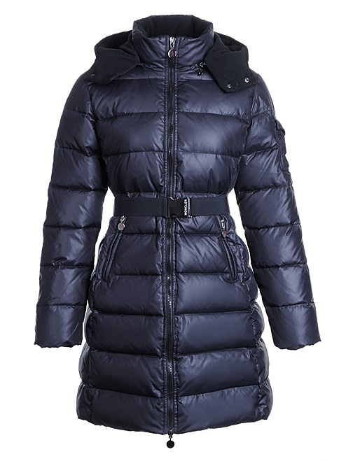 Moncler Nantes Coat Women Winter Hooded Parka Blue