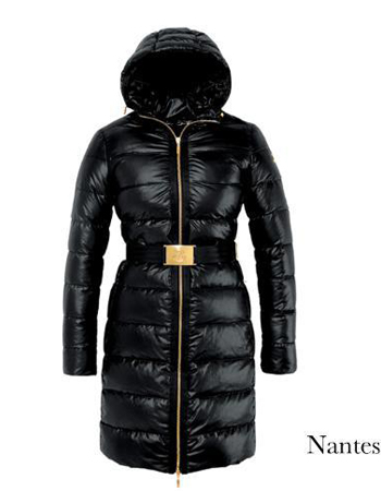 Moncler Nantes Coat Women Winter Hooded Parka Black
