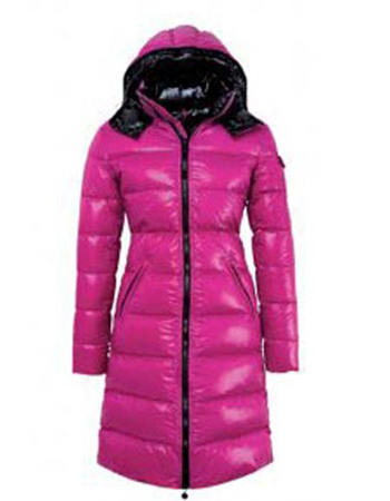 Moncler Nantes Women's Winter Coat Pink Hooded Jacket
