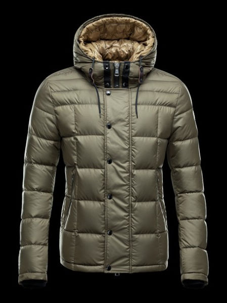Moncler Quentin Down Jacket Khaki Hooded Jacket