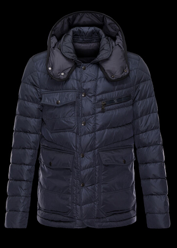Moncler RIVER Men's Winter Jacket Blue