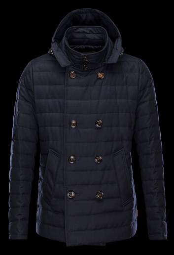 Moncler ROUX Winter Jacket Men Hooded Blue