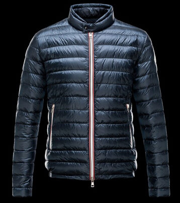 Moncler Men's Down Jacket Blue Parka Down Jacket