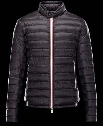 Moncler Men's Down Jacket Black Parka Jacket