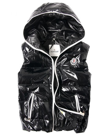 Moncler down jacket man sleeveless black