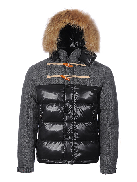 Moncler Men's Anthime Leather Jacket Black