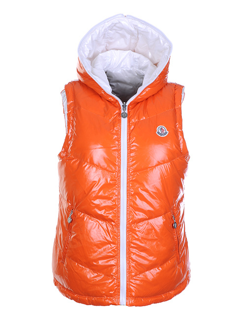 Moncler jackets women's double-sided sleeveless jacket Orange