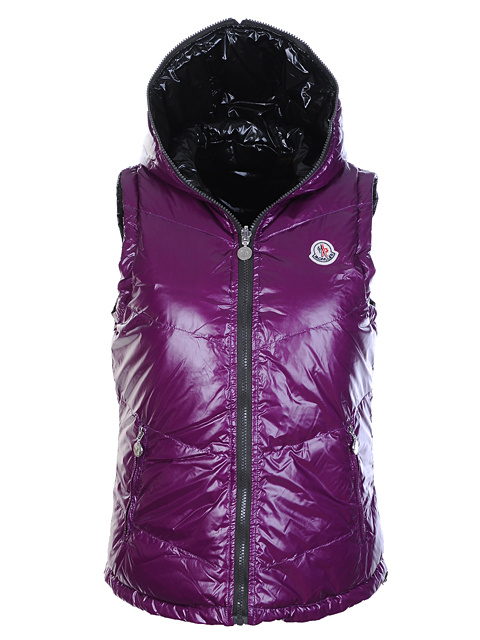 Moncler moncler jacket woman sleeveless double-sided purple