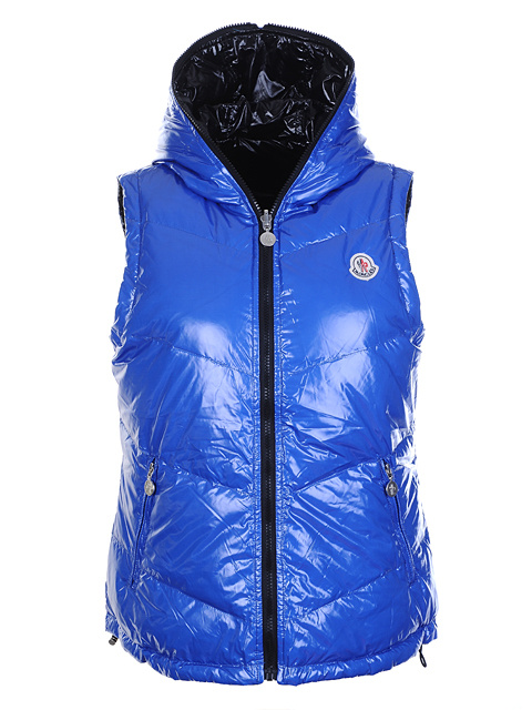 Moncler jackets women's double-sided sleeveless jacket blue