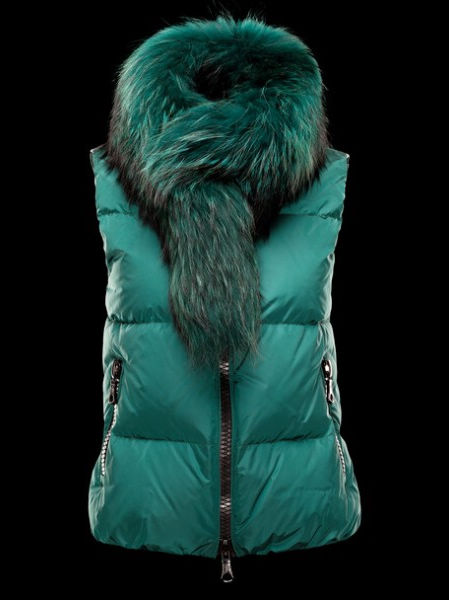Moncler Women Jacket Green Sleeveless