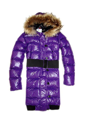 Moncler Women Lucie Singers Down Coat Purple