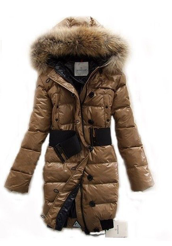 Moncler Women's Down Jacket Down Coat Khaki
