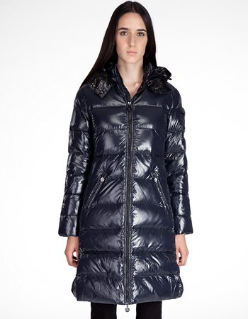 Women Moncler Moka Down Coats Blue