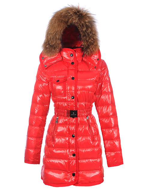 Women Moncler Mugwort Coats Fur Hat Ora Belt