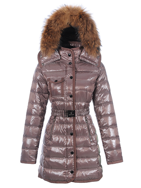 Women Moncler Wormwood Coat Fur Hat Girdle Belt