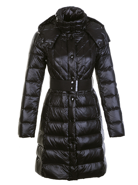 Moncler women long coat black hat