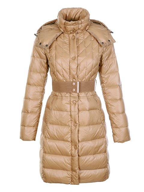 Moncler women winter coats long belt khaki