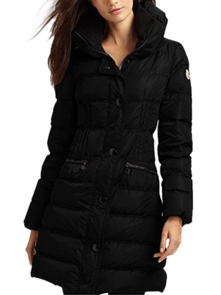 Moncler women winter coats long black belt