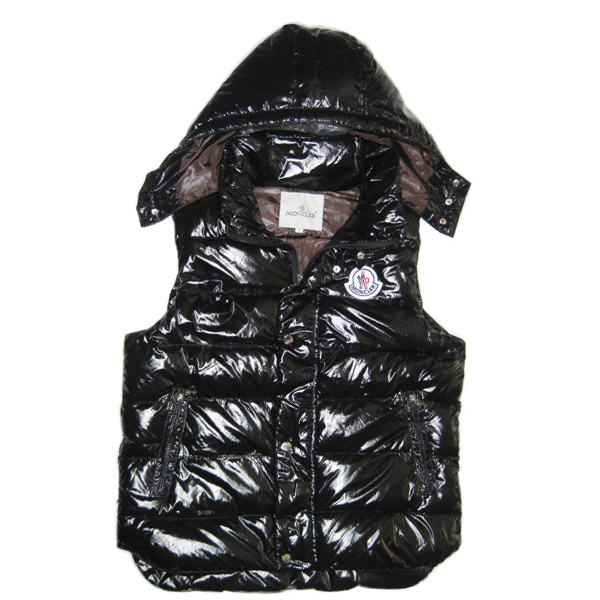 Moncler Vest Men's Black Sleeveless Jacket