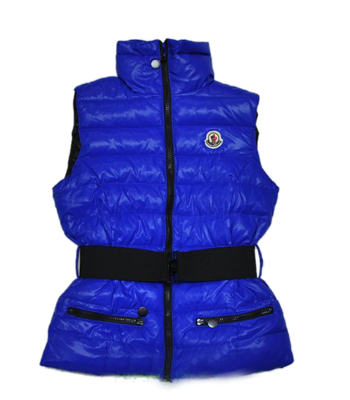 Moncler Gilet Branson Sleeveless Women Blue