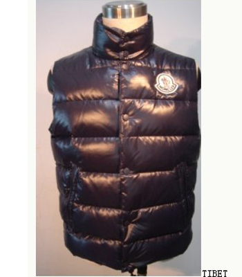 Moncler Vest Quilted Body Men's Sleeveless Blue Coat