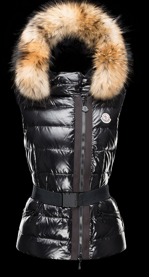 Moncler Down Jacket Women Down Jacket Hooded Fur Black