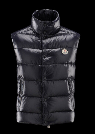 Moncler Tib Vest Men's Blue Sleeveless Vest