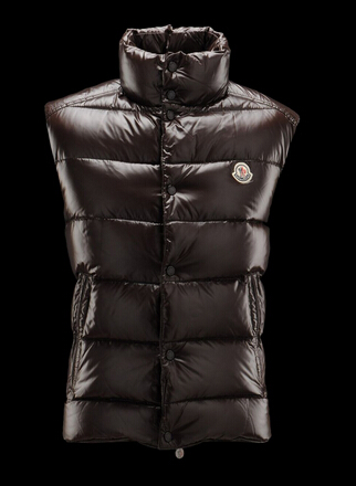 Moncler Tib Jacket Men Sleeveless Brown