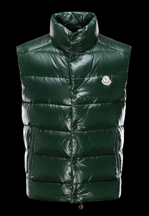 Moncler Tib Vest Men's Green Sleeveless Vest