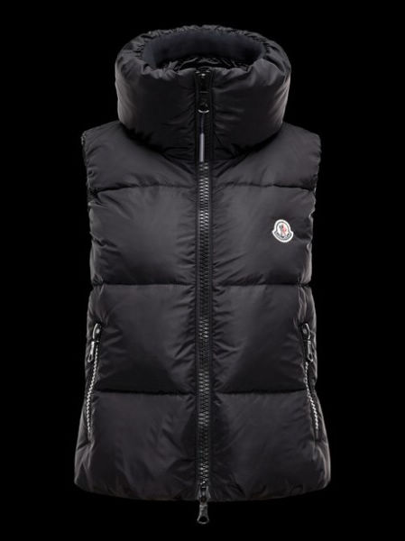 Vest Moncler Vest Sleeveless Women Pety Black