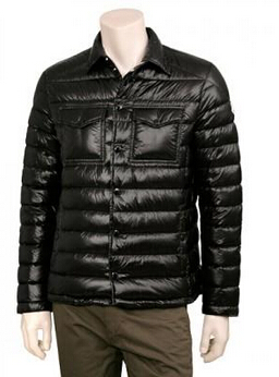 Gregoire Moncler Men's Down Jacket Black Blue
