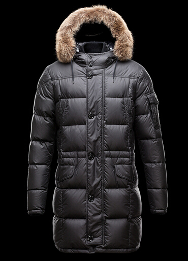 Men Moncler Gabriel Down Coat Hooded Coat Black