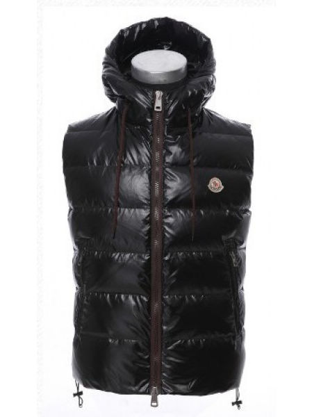 Moncler Men Vest Bartholome Black