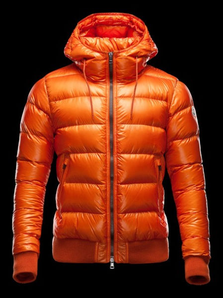 Men Moncler Coat Hooded Down Jacket Brand: Orange
