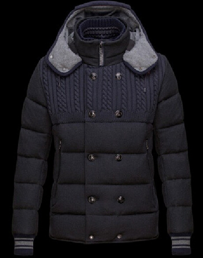 Men Moncler Montpellier Hooded Down Jacket Black