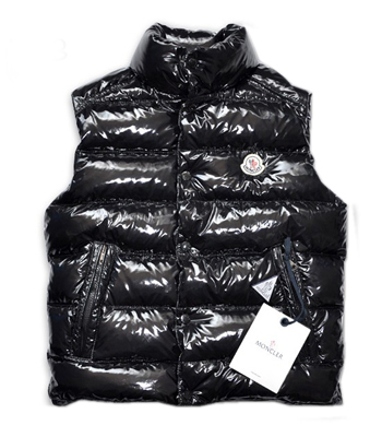 Men Moncler TIB black sleeveless jacket black